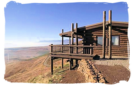 Log cabin at the Highlands Mountain Retreat in the Golden Gate Highlands National Park