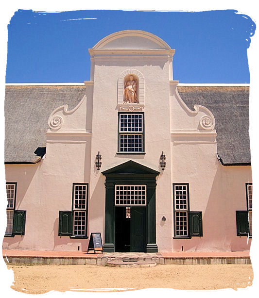 Groot Constantia manor house entrance - Groot Constantia, the Oldest South Africa Wine Country Estate