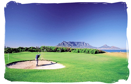 Milnerton Golf Course is a seaside course, nestling between the Atlantic ocean and the Rietvlei river - Activity Attractions in Cape Town South Africa and the Cape Peninsula