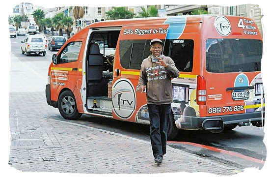 Minibus taxi driver looking for passengers - Cape Town Maps, Cape Town Places and Cape Town Guide