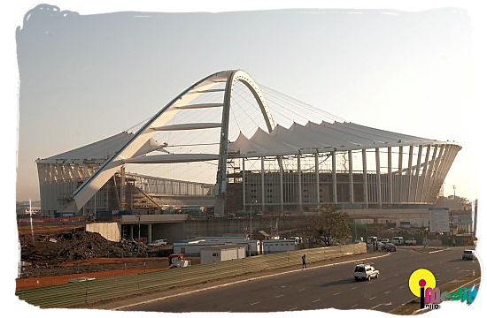 Moses Mabhida stadium at Durban - South Africa Rugby, Tri Nations Rugby and Super 14 Rugby
