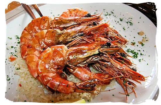 Peri-Peri Mozambique prawns - Portuguese cuisine in South Africa