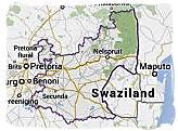 Map of Mpumalanga province, South Africa