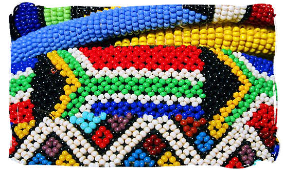 A close up of the delicate and skilful Ndebele beadwork - The Ndebele People, Culture and Language