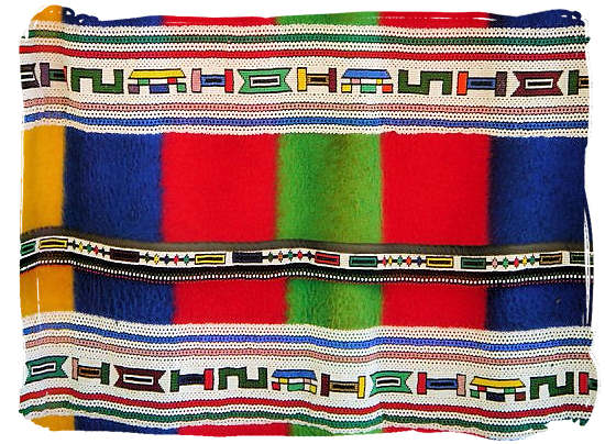 Traditional Ndebele blanket decorated with beadwork - The Ndebele Tribe, Ndebele People, Culture and Language