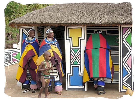 Ndebele cultural village showcasing their beautiful houses and traditional clothes - The Ndebele People, Culture and Language