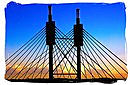 The 42 meters high pylon of the Nelson Mandela Bridge in Johannesburg