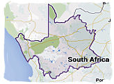 Map of the Northern Cape province, South Africa