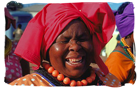 Cheerful Northern Sotho (BaPedi) lady - Black People in South Africa, Black Population in South Africa