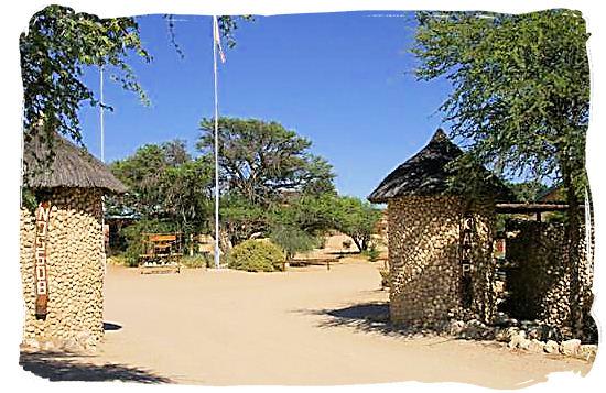 Entrance gate to Nossob camp - The Nossob Camp, Kgalagadi National Park, Kgalagadi Photos