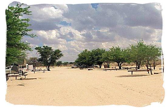 Camping site at the Nossob camp - The Nossob rest camp, Kgalagadi National Park, Kgalagadi Photos