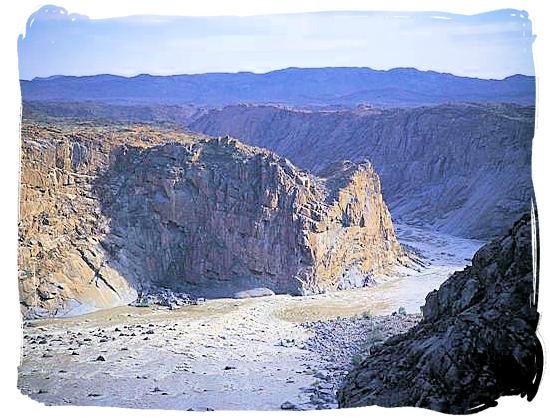 The Orange river gorge below the Augrabies Falls