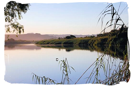 The Orange river in South Africa