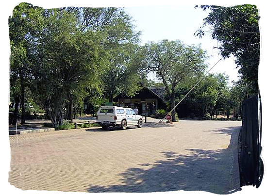 Entrance gate to Orpen camp in the Kruger National Park, South Africa