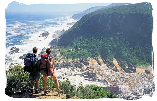 View of the Oakhurst Huts on the third day hiking the Otter hiking trail in the Western Cape