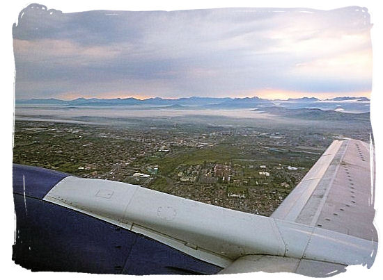 Over Tygerberg Hospital just after takeoff from Cape Town International Airport - Cheap Flights to Cape Town International Airport South Africa