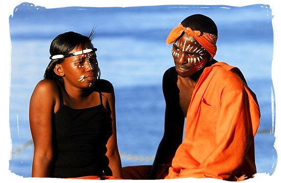 Traditional dancers taking a break - Xhosa people, Xhosa Language and Xhosa Culture in South Africa