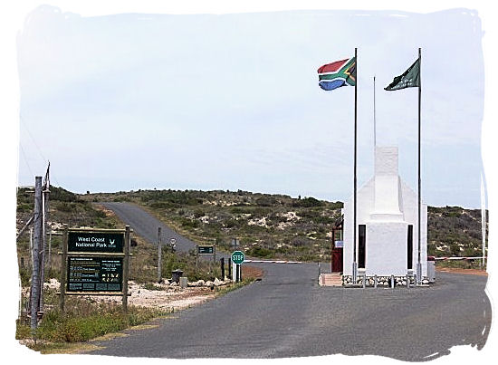 The entrance to the Park - West Coast National Park, South Africa National Parks