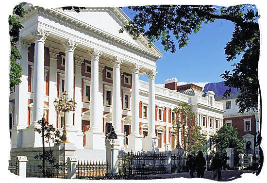 Houses of parliament in Cape Town, housing the National Assembly of South Africa and the National Council of Provinces - South Africa Government, South Africa Government type