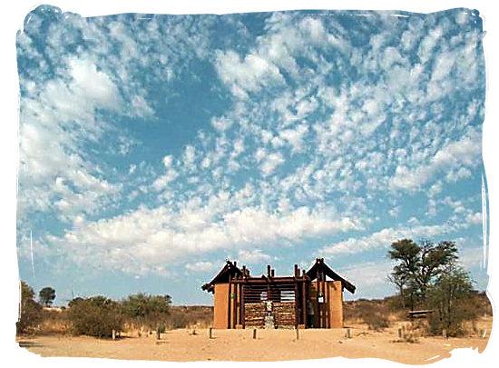 Rest rooms at the Dikbaardskolk pick nick site - Kalahari Desert Climate in the Kgalagadi Transfrontier National Park