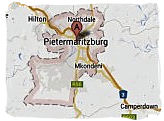 Map of Pietermaritzburg, South Africa, South Africa