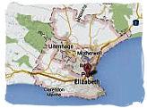 Map of Port Elizabeth, South Africa