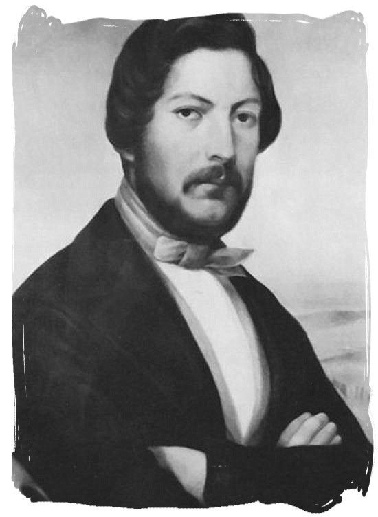 Portrait of Andries Pretorius, leader of the Voortrekkers in the Battle of Blood River