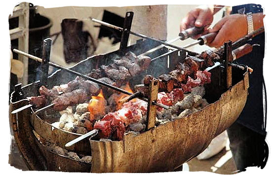 Espetada on the barbecue - Portuguese food cuisine in South Africa