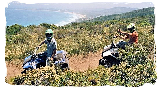 Enjoy the beautiful scenery around Knysna from a quad bike - Knysna Activities, Attractions and Festivals in South Africa