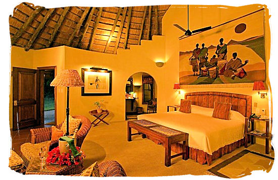 Luxurious accommodation in Sable Camp at Mala Mala private game reserve