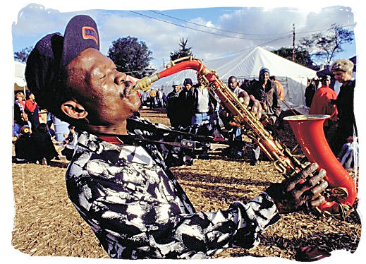 Saxophonist at the Grahamstown Festival - Festivals of South Africa