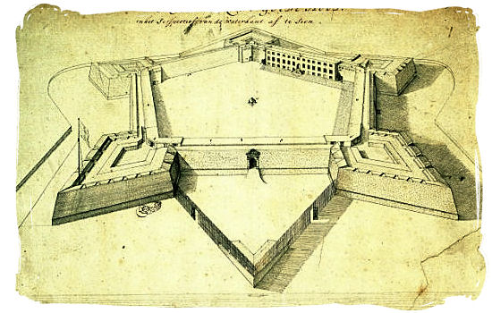 1680 Sketch of the Castle of Good Hope - History of Cape Town South Africa, Cape of Good Hope History