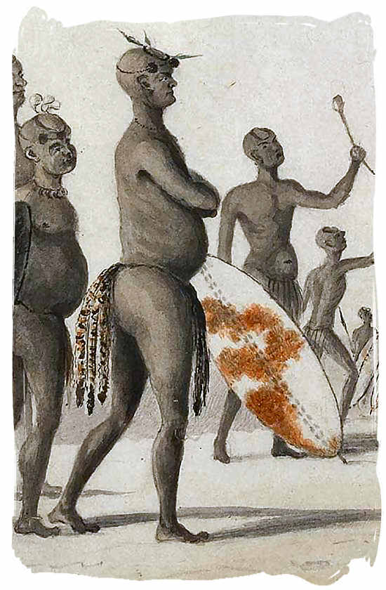 Watercolour sketch of Mzilikazi, king of the Matabele - City of Johannesburg South Africa History, Culture, Museums