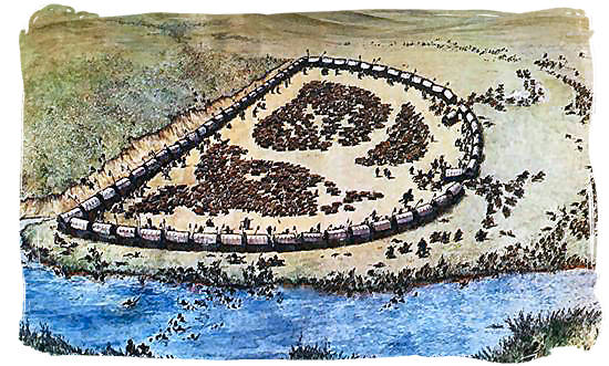 Sketch of the Battle of Blood river