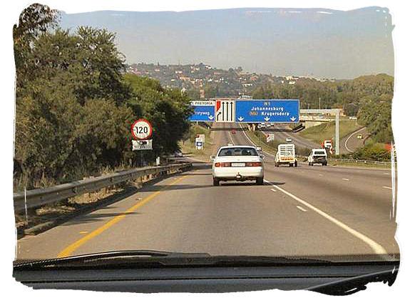 Metropolitan highway at Pretoria, South Africa