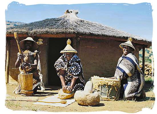 Southern Sotho (Basotho) ladies - Black People in South Africa, Black Population in South Africa