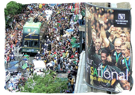 Homecoming of the South African Springbok rugby team - Springbok rugby in South Africa and the South Africa rugby team