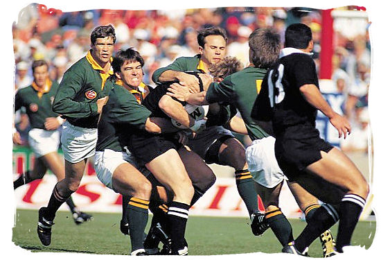 South African Springboks vs the All Blacks from New Zealand - Springbok rugby in South Africa and the South Africa rugby team