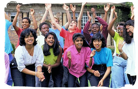 Young students of South Africa's rainbow generation