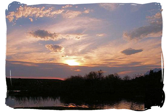 Sunset in the Bontebok National Park
