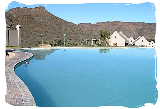 The lovely swimming pool at the Park's rest camp
