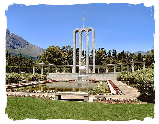 The Huguenot museum and monument at Franschhoek, in commemoration of the French Huguenots in South Africa