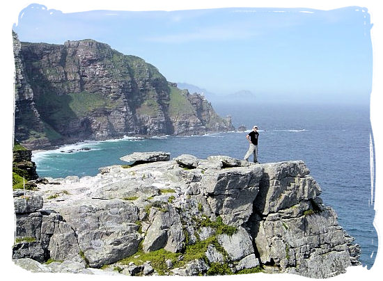 The pinnacle of the Cape of Good Hope with Cape Point in the background - Cape Town holiday attractions, Table Mountain National Park