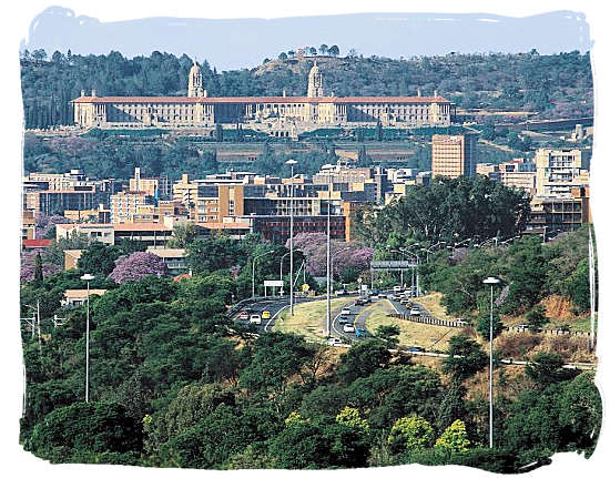 Union buildings in Pretoria, official seat of the South African government, also housing the office of the President of South Africa - National symbols of South Africa