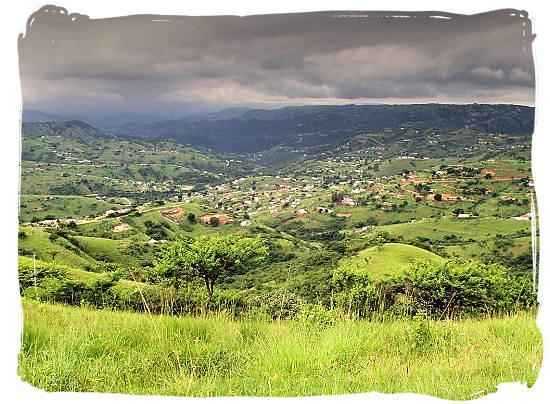 Valley of a 1000 hills, the historical homeland of the Zulus - The Zulu people, Zulu Tribe and legendary King Shaka Zulu