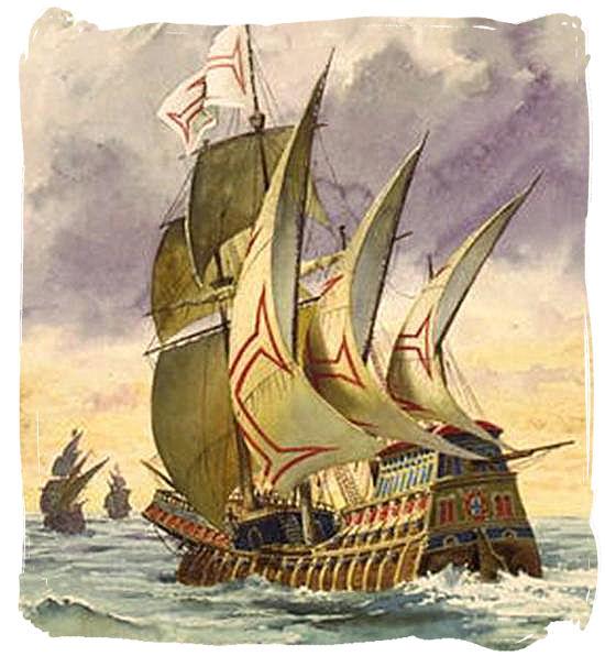 Painting of Vasco da Gama's ship