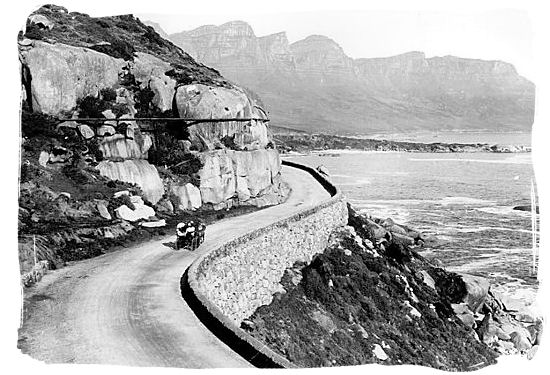 Victoria road near Clifton with the Twelve Apostles in the background - History of Cape Town South Africa, Cape of Good Hope History