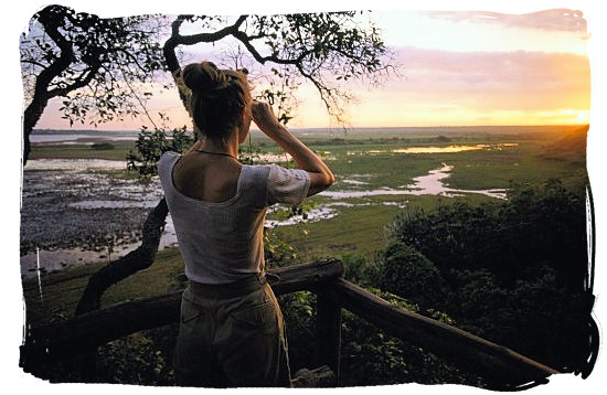 View across Lake St Lucia from Dugandlovu Rustic Camp in the Greater St Lucia Wetland Park - Ode to Kwazulu Natal Province, Tourism, South Africa