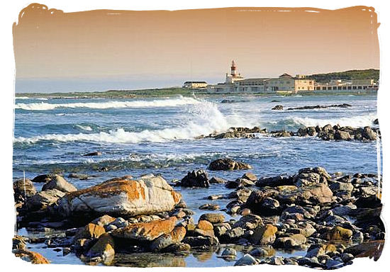 View at lighthouse of Cape Agulhas - L'Agulhas South Africa, Agulhas National Park