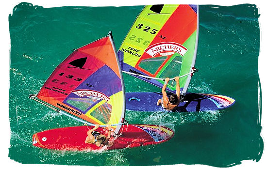 Wind Surfing is a most popular water sport in South Africa - Big 3 of South African Sports, South Africa Sports Top Ten